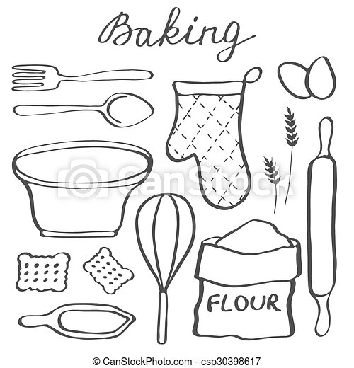 Baking Supplies Coloring Pages