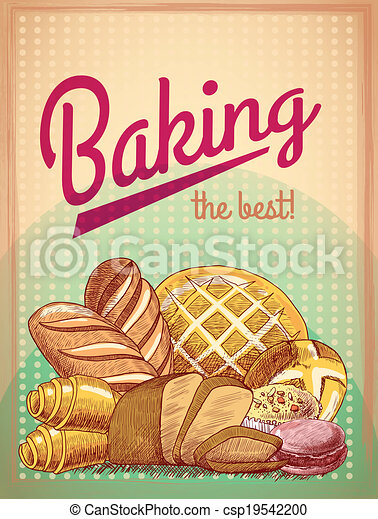 Baking the best pastry poster - csp19542200