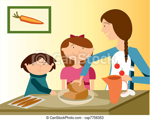 BAKING WITH MOM - csp7756353