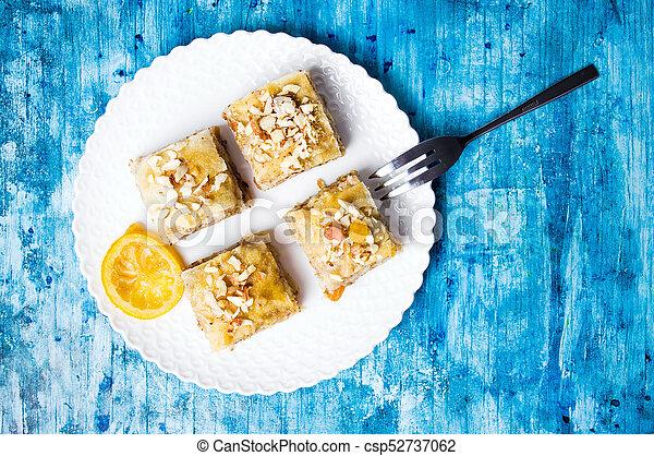 Baklava dessert slices on a plate - csp52737062