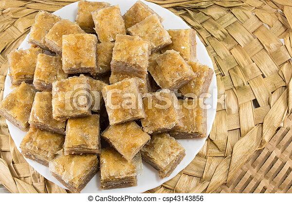 baklava on a plate - csp43143856