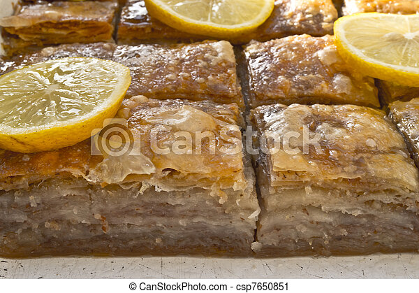 baklava traditional middle east swe - csp7650851