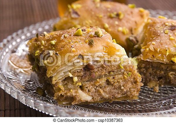 Baklava - traditional middle east sweet desert - csp10387363