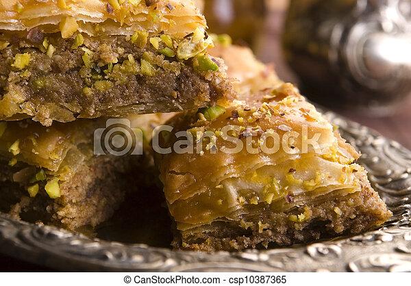 Baklava - traditional middle east sweet desert - csp10387365