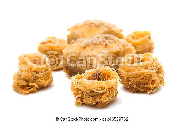 baklava with walnuts isolated - csp46539762