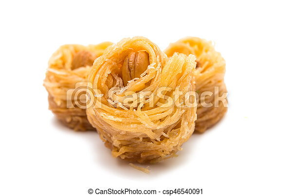 baklava with walnuts isolated - csp46540091