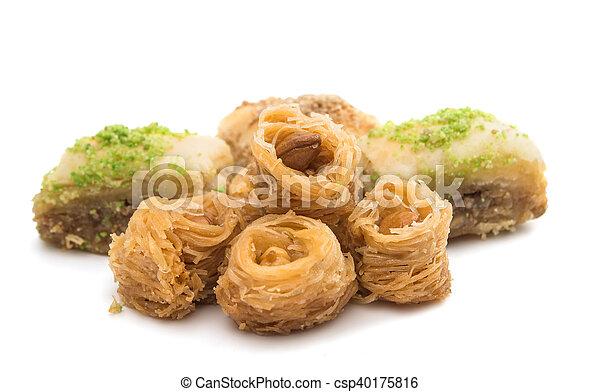 baklava with walnuts - csp40175816