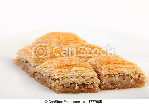 Baklava with walnuts - csp17779051