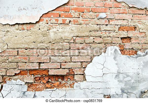 baksteen, textuur - csp0831769