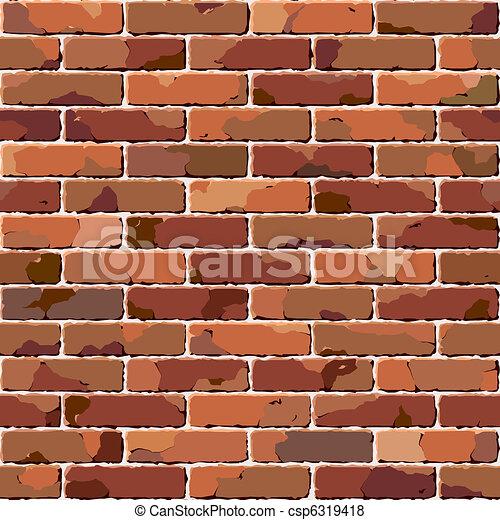 baksteen, wall., oud, seamless, texture. - csp6319418
