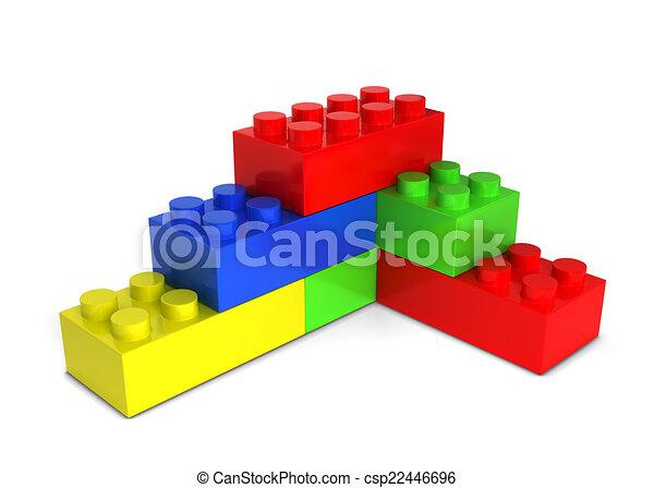 bakstenen, speelbal - csp22446696