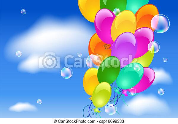 balões, céu - csp16699333