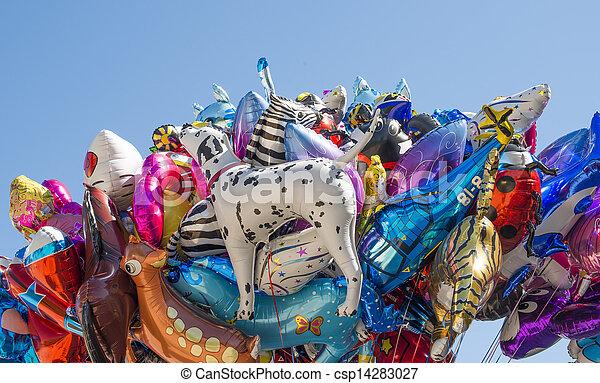 balões, hélio, enchido - csp14283027