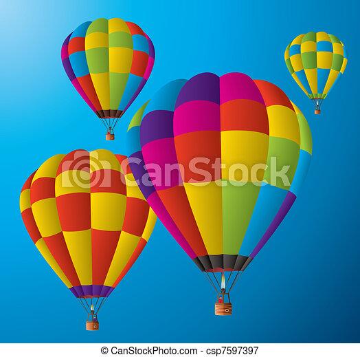 balões, quentes, céu, ar - csp7597397
