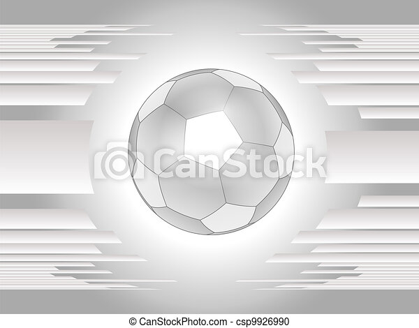 bal, abstract, grijs, backgroun, voetbal - csp9926990