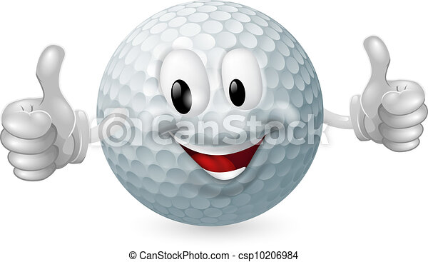 bal, golf, mascotte - csp10206984