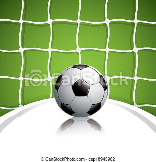 bal, voetbal net - csp18943962