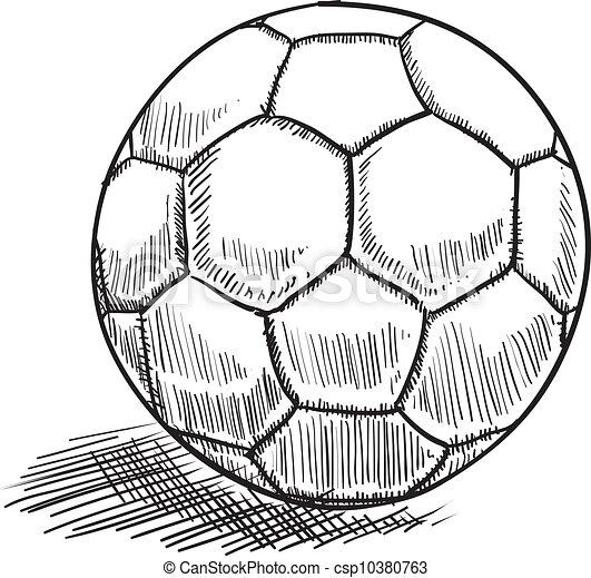 bal voetbal schets stijl of doodle illustratie