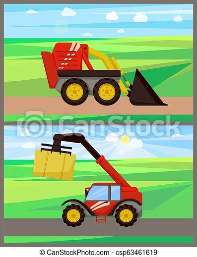 Cargador y bale pilar de bálser ilustración vectorial - csp63461619