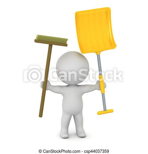 balai pelle caract re 3d shovel balai caract re illustrations de stock rechercher. Black Bedroom Furniture Sets. Home Design Ideas