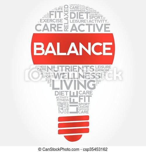 BALANCE bulb word cloud - csp35453162