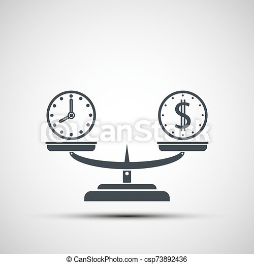balance, icono, tiempo, balanzas., dinero - csp73892436
