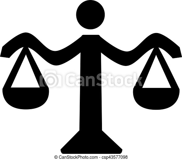 balance justice, icône - csp43577098