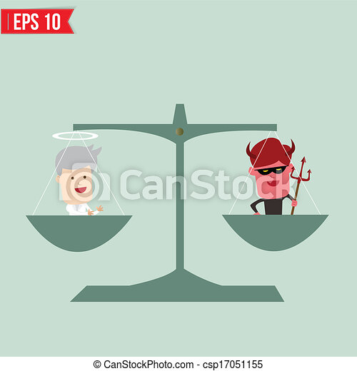 Concept Bad balance of and bad concept vector illustration clipart