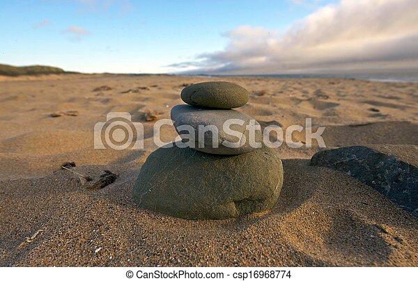 Balance Rocks on the Beach - csp16968774