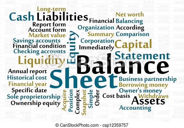 Balance Sheet - csp12359757