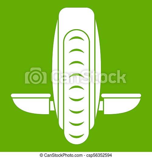 Balance vehicle icon green - csp56352594