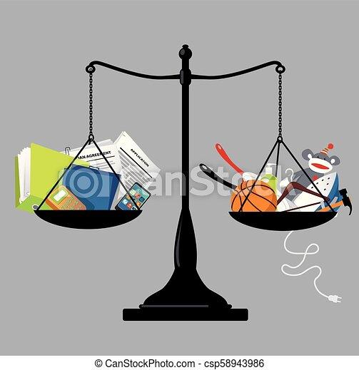 El equilibrio de la vida laboral - csp58943986