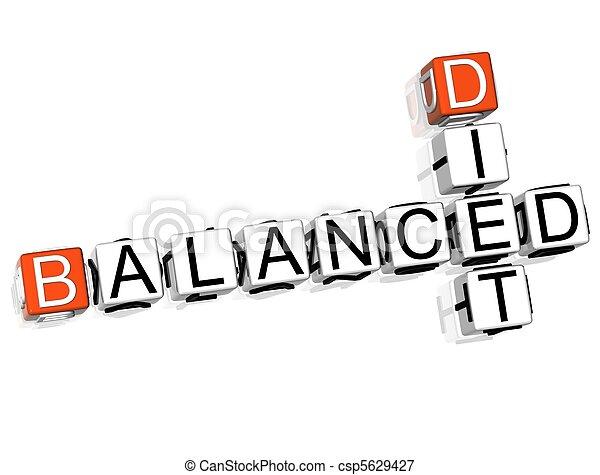 Balanced Diet Crossword  - csp5629427