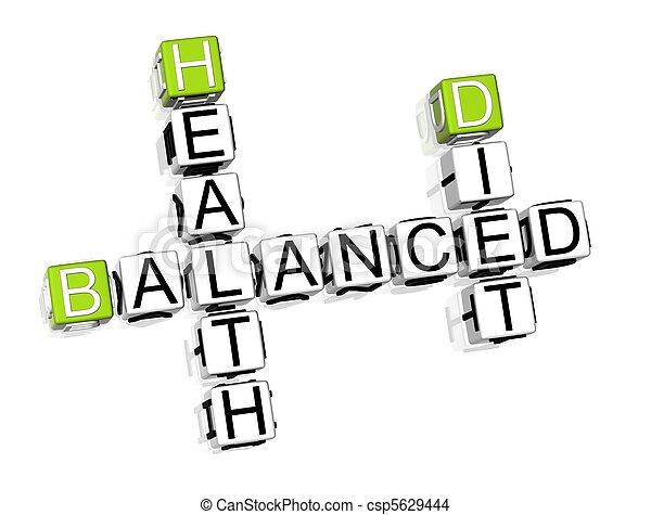 Balanced Diet Crossword  - csp5629444
