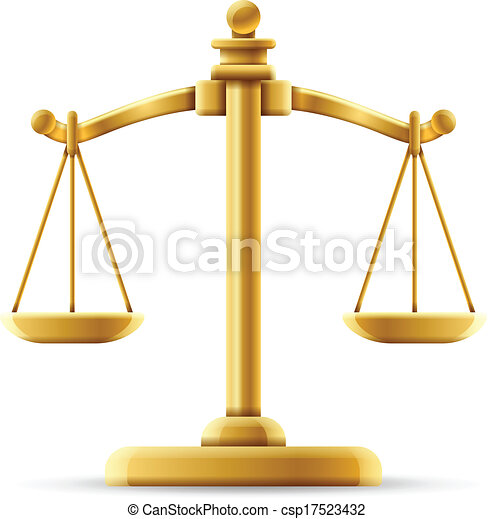 Balanced Justice Scale - csp17523432