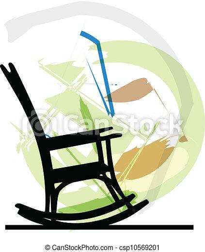 balancer, vecteur, chair., illustration - csp10569201