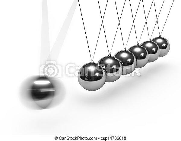 Balancing balls Newton's cradle - csp14786618