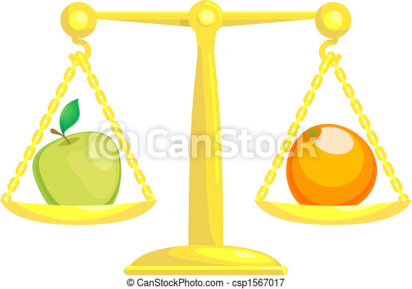 Balancing Or Comparing Apples With Oranges - csp1567017