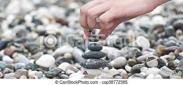 balancing stones - csp38772385