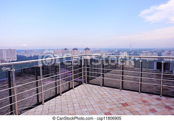 balcon, vue - csp11806905