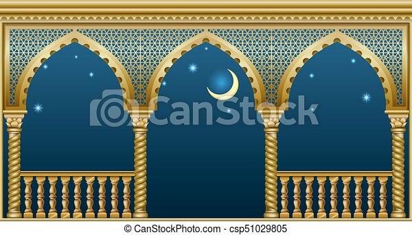 Balcony of the fairytale palace - csp51029805