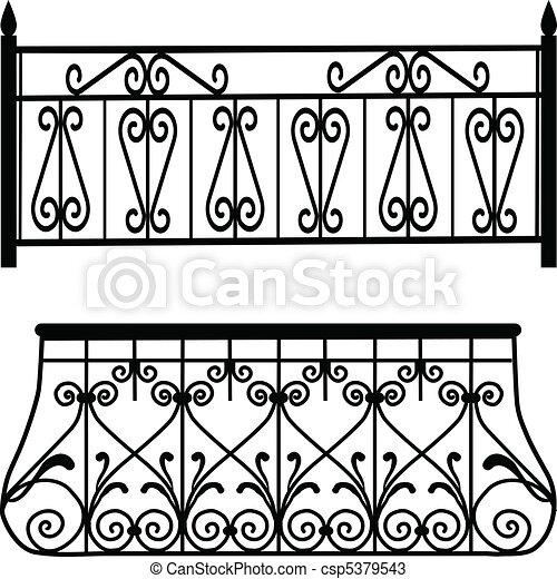 Balcony railings - csp5379543
