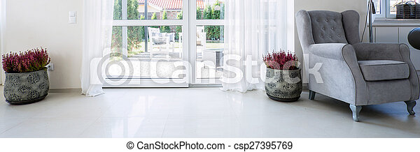 Balcony window in living room - csp27395769