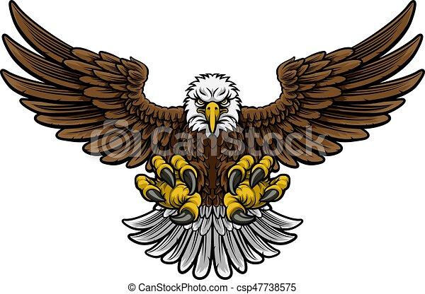 Bald American Eagle Mascot - csp47738575