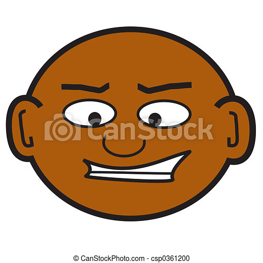 bald dude a clip art of a crazy bald guy stock illustration rh canstockphoto com Cool Dude Logo Daredevil Face Logo