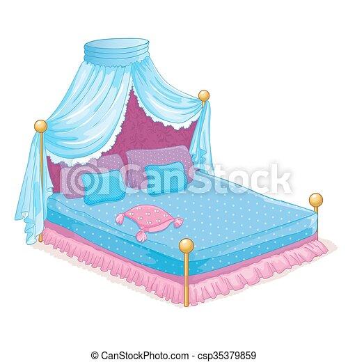 Baldachin, Prinzessin, Bett Vektor