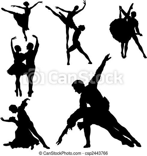 balet, sylwetka - csp2443766