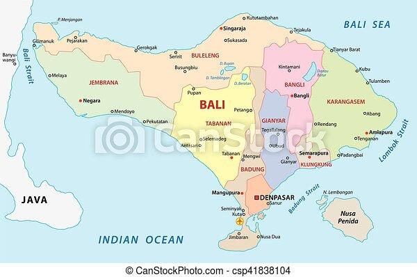 bali administrative map