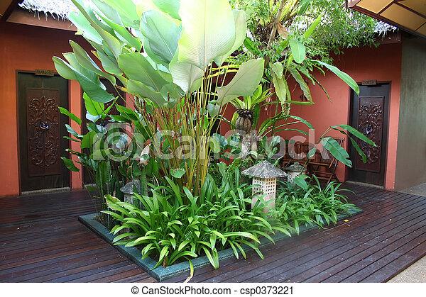 Bali courtyard - csp0373221