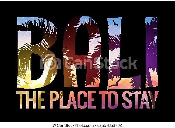 Bali Indonesia Summer Tourism Tropical Silhouette Beach Background